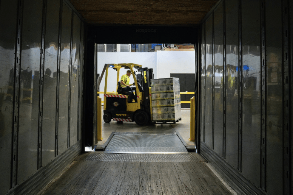 Forklift with Pallets Modern Inventory Tracking Wi-Fi Halow